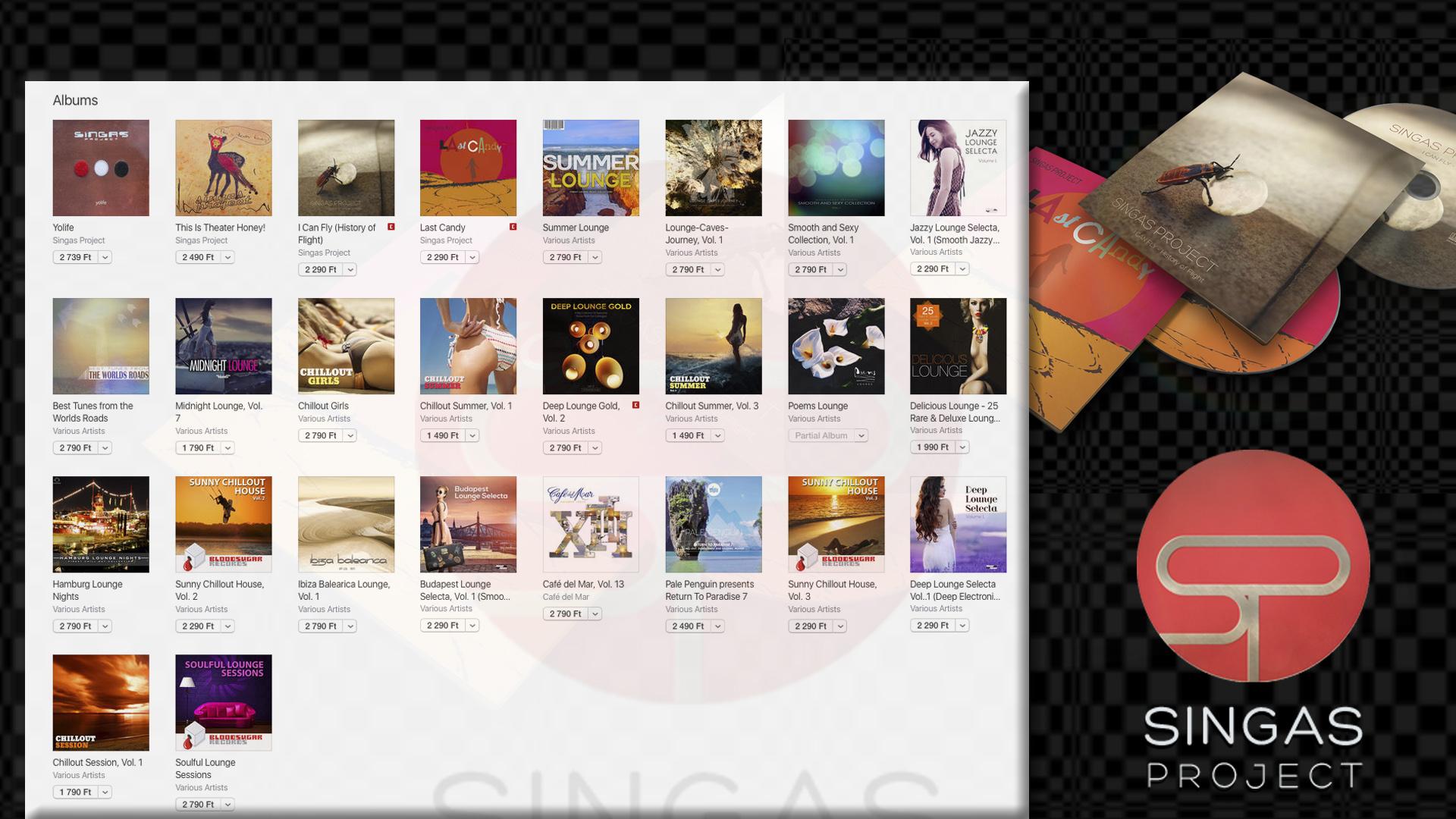 Singas albums showcase